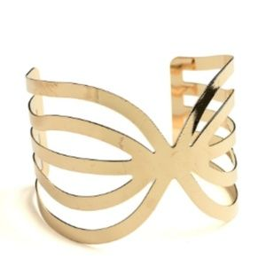 NWT Butterfly Boho Ribboned Cuff Bracelet Bangle